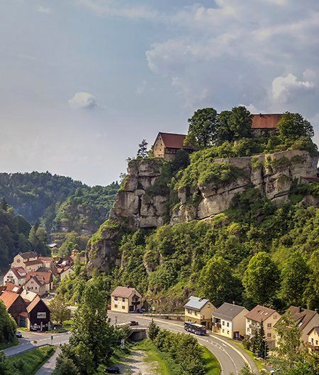 Pottenstein castle and town in the district of Bayreuth, Bavaria, Germany | by…
