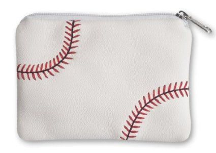 "These coin purses are perfect for showing your love of your favorite sport! Made from sports ball materials, these coin purses are great for coins, jewelry, or any other small items. They measure about 4 ½ "" long and 3 ½"" wide, and slip easily into a purse or pocket. These coin purses feature a heavy duty inner lining and secure zipper, and are a perfect compliment to other sports bags and accessories!"