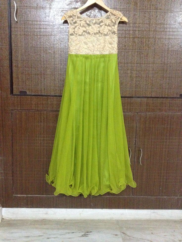 Mehndi Green Outfit by Pareesa Boutique...  #Anarkali#SalwarSuit#indian #shaadi #bridal #fashion #style #desi #designer #wedding #gorgeous #beautiful