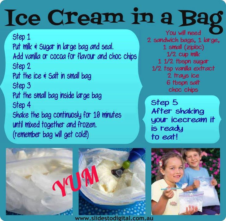 Ice Cream In A Bag: Sweet Treats, Coconut Milk, Homemade Ice Cream, Summer Fun, Almonds Milk, Camps Fun, Icecream, Kids Fun, Small Bags