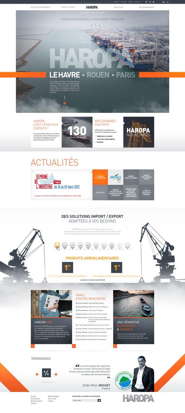 HAROPA – Ports de Paris – SITE WEB by Anthony Lepinay, via Behance #webdesign #i…