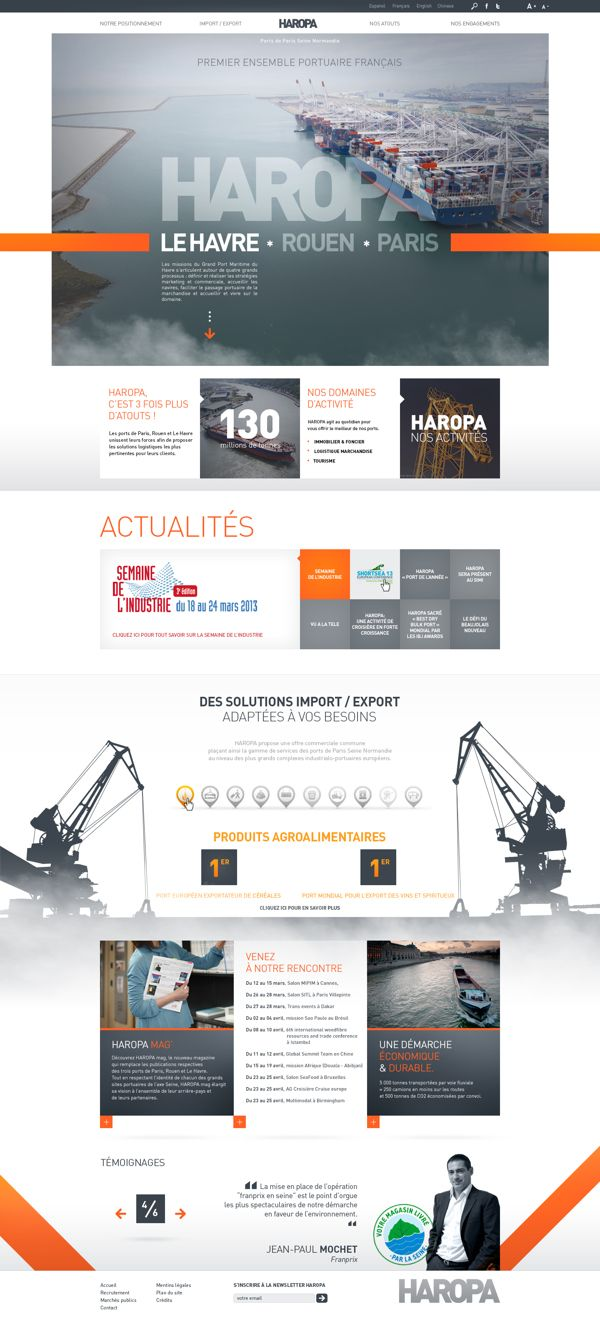 HAROPA - Ports de Paris - SITE WEB by Anthony Lepinay, via Behance #webdesign