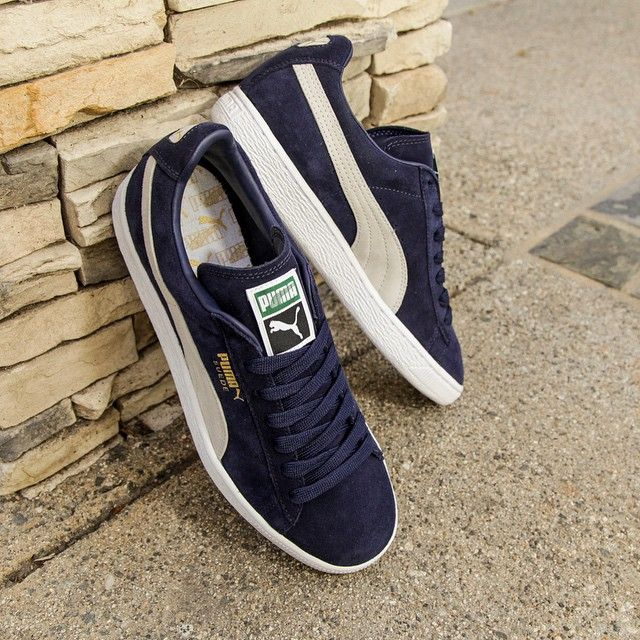 Puma Suede Classic+ in peacock/white // $59 USD Available now online at  BAITme