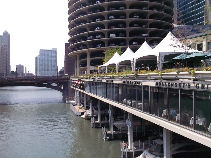 Marina City -boat docking  Chicago, IL