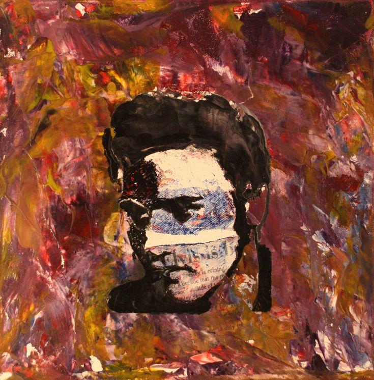 Elvis Presley on canvas made in encaustics. For sale!!!