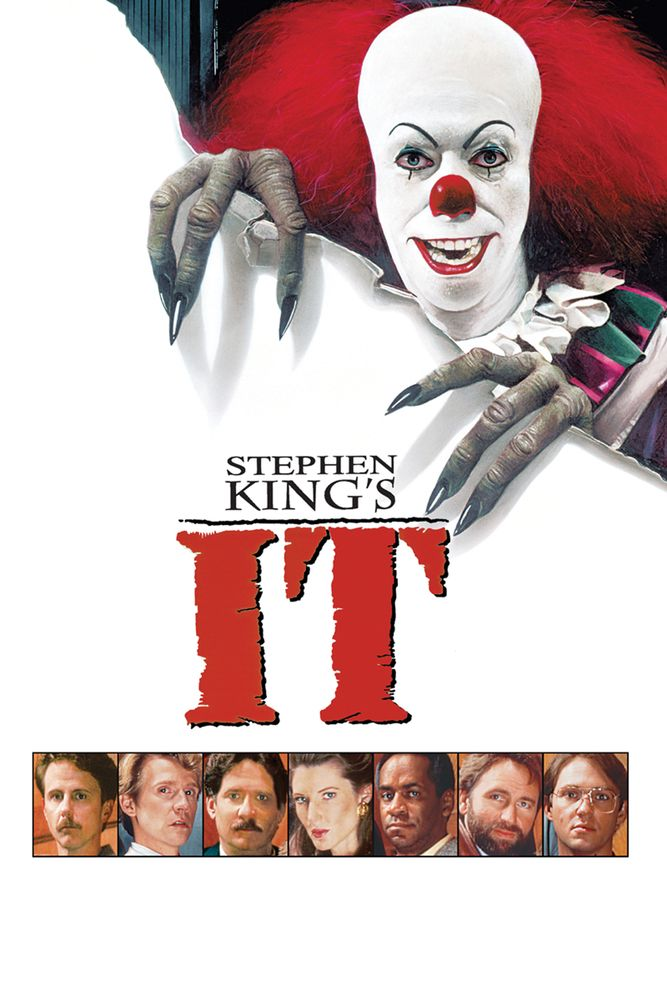 Stephen King's, It Movie Poster - Richard Masur, Dennis Christopher, John Ritter  #StephenKings, #MoviePoster, #Thriller, #TommyLeeWallace, #DennisChristopher, #ItPoster, #JohnRitter, #RichardMasur
