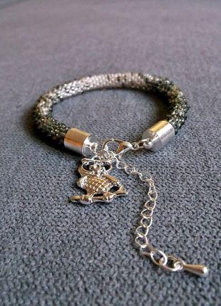 Kup mój przedmiot na #vintedpl http://www.vinted.pl/akcesoria/bizuteria/10201001-szaro-biala-bransoletka-z-koralikow-toho