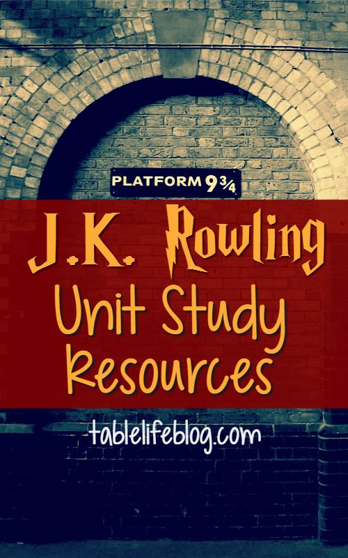 My kids are obsessed with Harry potter and want to learn all they can about the author who created him. That's how our J.K. Rowling Unit Study came to be.