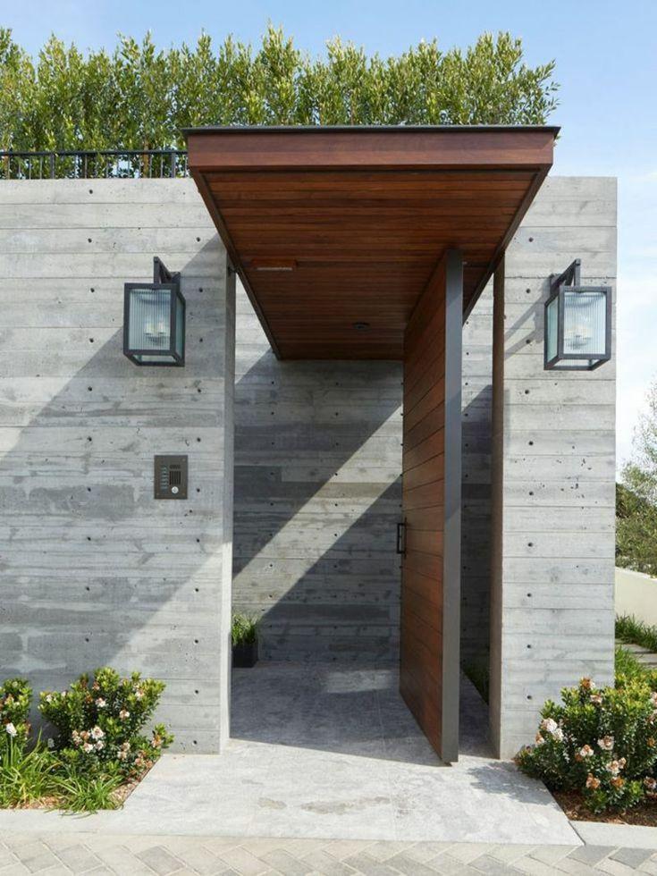 Wie wird eine Haustürüberdachung gebaut Hauswand