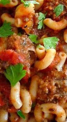 American Goulash - It's  yummy, simple, economical, and fairly quick to throw together for dinner. There'll be no complaints from the peanut gallery when you serve this! ❊