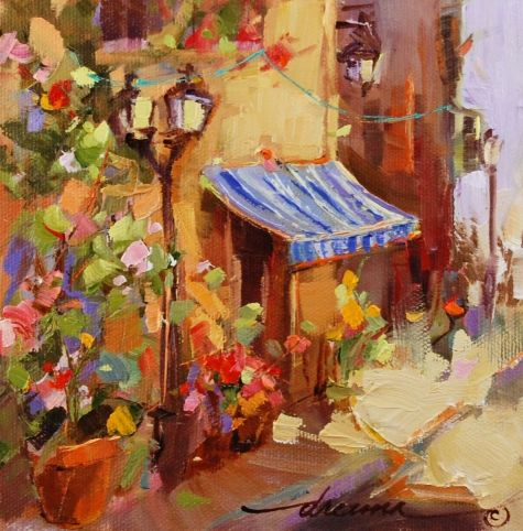 Sunny Side of the Street French Style, painting by artist Dreama Tolle Perry