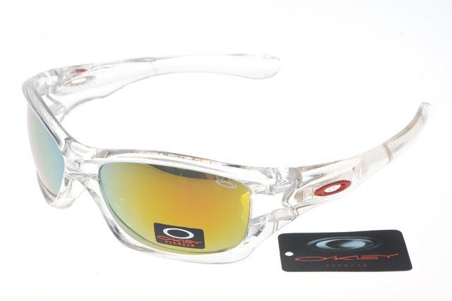 Oakley Crankcase Sunglasses White Frame Colorful Lens 0168