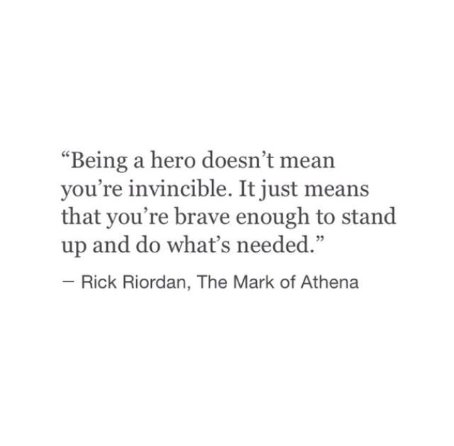 Being a hero doesn't mean your invincible...