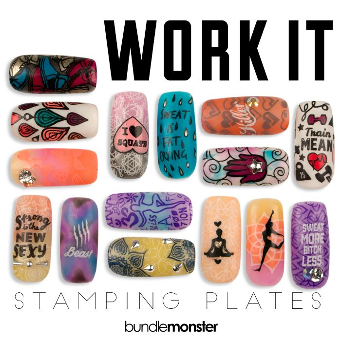 232 best sneak peek bundle monster stamping plates images on active lifestyle manicures sporty plate set work it stamping collection gym junkie great outdoors go team scraper stamper color nail polish image stainless prinsesfo Gallery