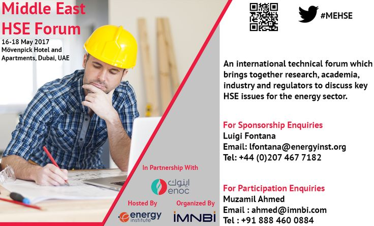 Time is running out to register for Middle East HSE Forum