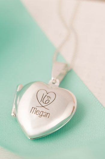 Engraved Heart Locket 16th 220x330 Sweet 16th birthday Gift Ideas