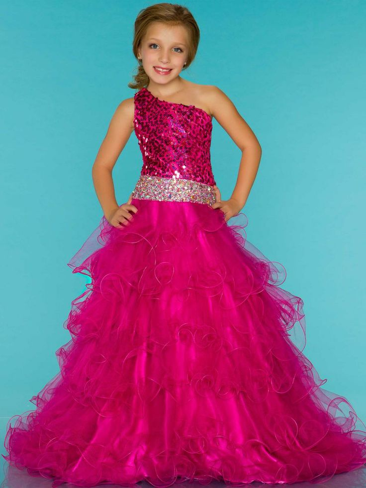 Sparkly pink dress girls
