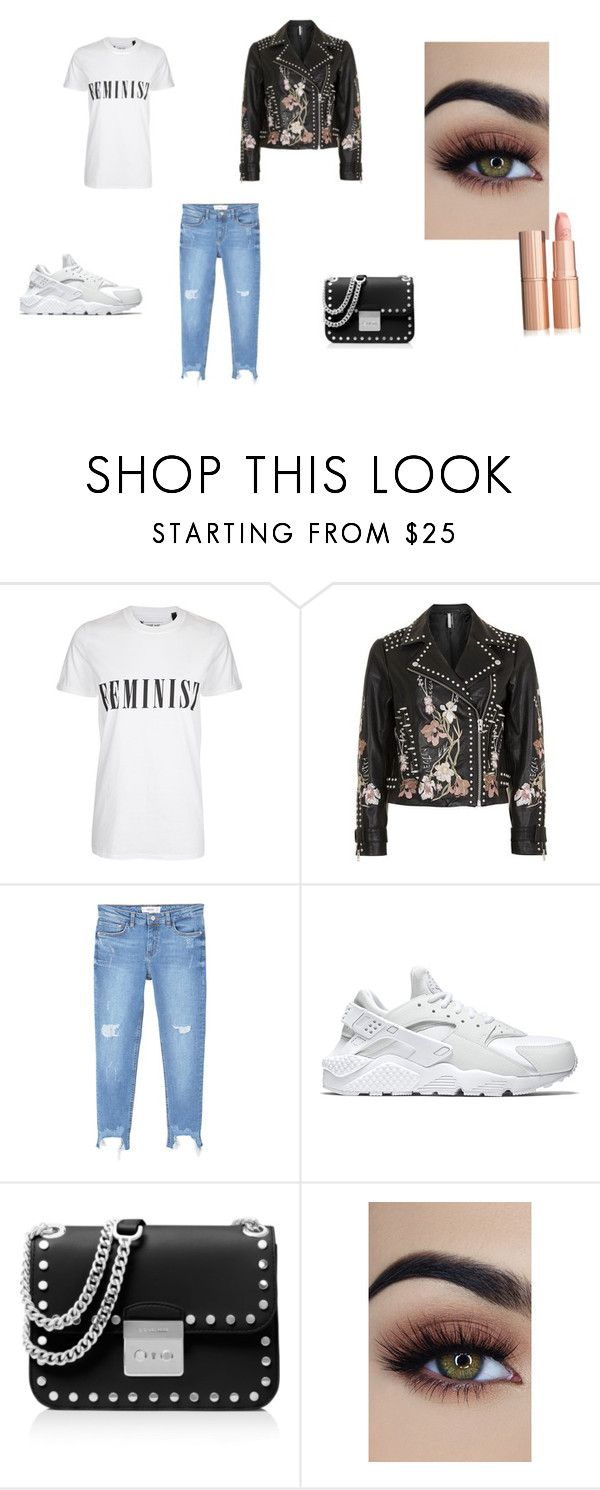 """Untitled #2"" by lraquelst on Polyvore featuring Tee and Cake, Topshop, MANGO, NIKE and MICHAEL Michael Kors"