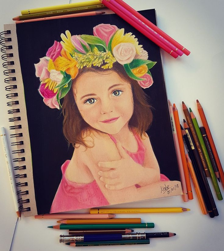 Retrato niña a color
