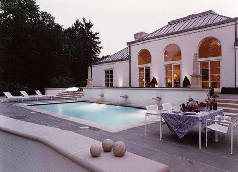 suzanne kasler fabrics | Suzanne Kasler - pools - pool, Wonderful pool area!