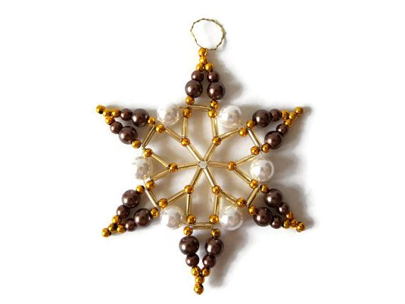 Christmas star ornament star made from seed par Kreativprodukte