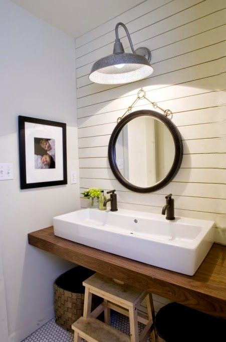 shiplap bathrooms | Modern farmhouse bathroom, Bathroom ...