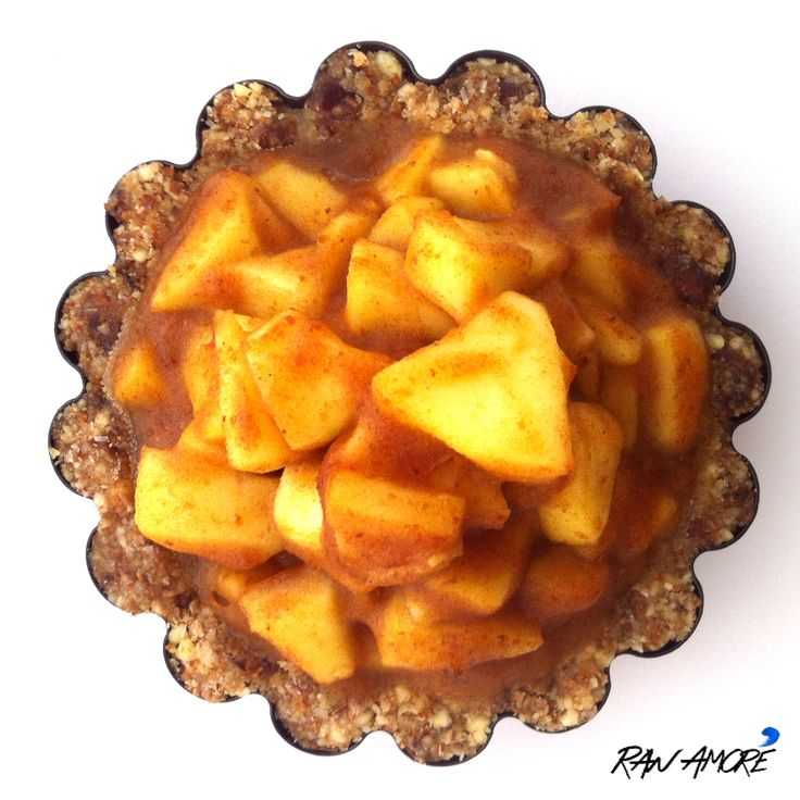 Raw Amorè's Raw Apple Caramel Pie! You can order one of these bad boys from us! Just email us at info@rawamore.com.au