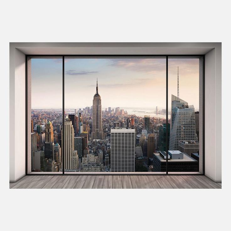 Penthouse view Manhattan photo wallpaper.