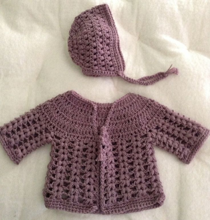 newborn sweater and bonnet