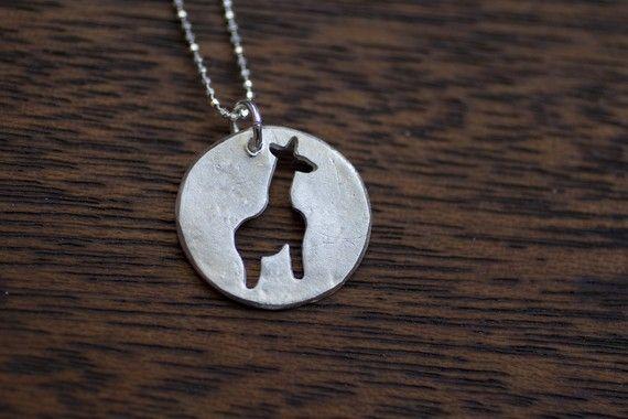 Giraffe Necklace - Silver - Sterling Silver - Small Modern Minimalist Jewelry - Tiny Giraffe - Cute Giraffe