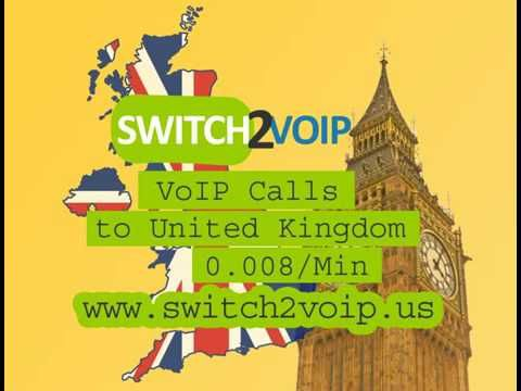http://switch2voip.us UK SIP Trunk VoIP Provider at 0.008 per Minute Switch2Voip provides UK VoIP service and SIP Trunking for fixed and mobile calling with crystal clear voice quality at $0.008 per minute, a great solution to save money on your business. Rates to the UK: Landline: USD$0.008/Minute Mobile: USD$0.07/Minute