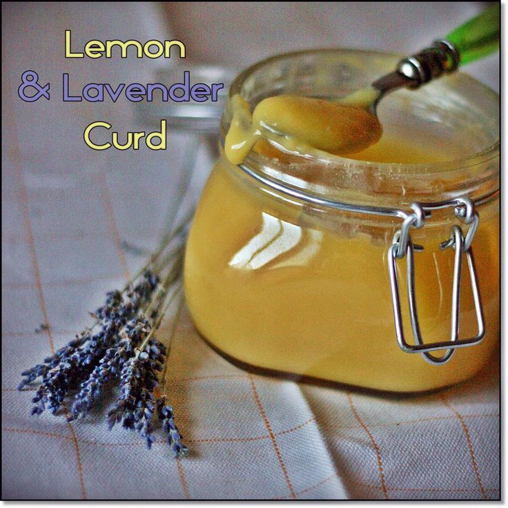 Lemon & Lavender Curd - the recipe is in Italian, but you'll figure it out :)