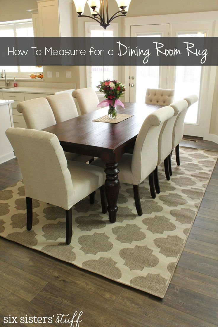 Rug size for dining room