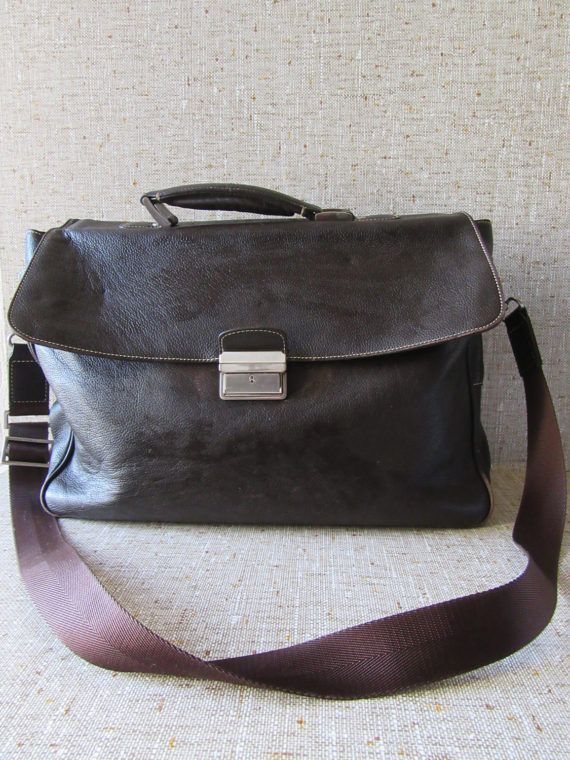 Vintage Pierre Cardin bag leather business mens satchel