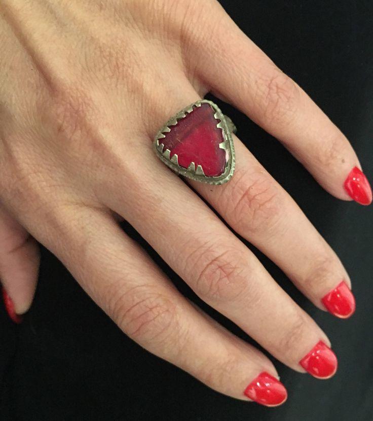 Size 9 -Tribal Ring,Vintage Ring,Kuchi Ring,Ring,Vintage Jewelry, Nomadic Ring-Kuchi Jewelry,Bohemian Ring,Tribal Ring by JewelsofNomads on Etsy