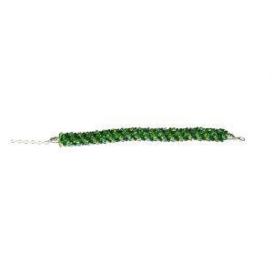 Green Kumihimo Bracelet