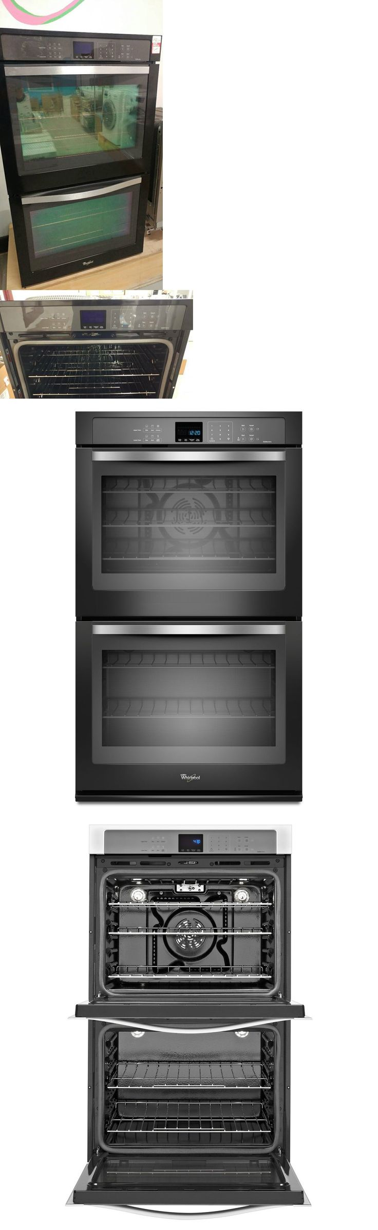 Whirlpool white ice double wall oven - Wall Ovens 71318 Whirlpool Gold 30 Double Wall Oven W True Convection Cooking Black