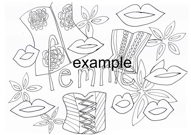 Femme, LGBTIAPQ, Adult Colouring in by ArachneArt on Etsy