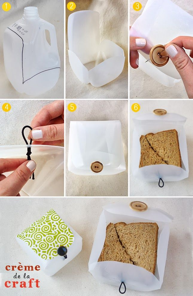 DIY: Lunchbox Container from a Milk Jug