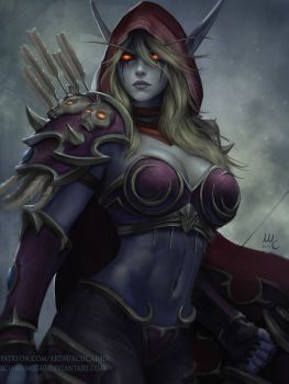 Sylvanas Windrunner - WoW (HotS version) by Sciamano240