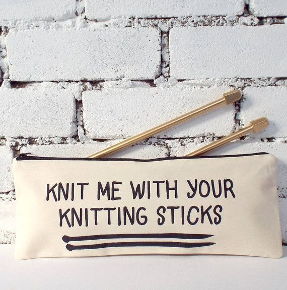 Knit Me Knitting Needle Case by KellyConnorDesigns on Etsy
