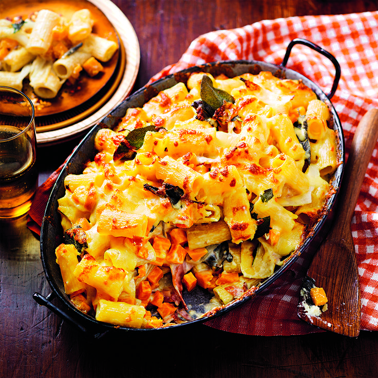 Rigatoni Bake with Pumpkin and Sage is a real crowd pleaser.