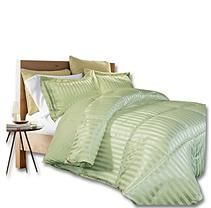 Kathy Ireland Home - Damask Stripe Full/Queen Comforter Set - Sage