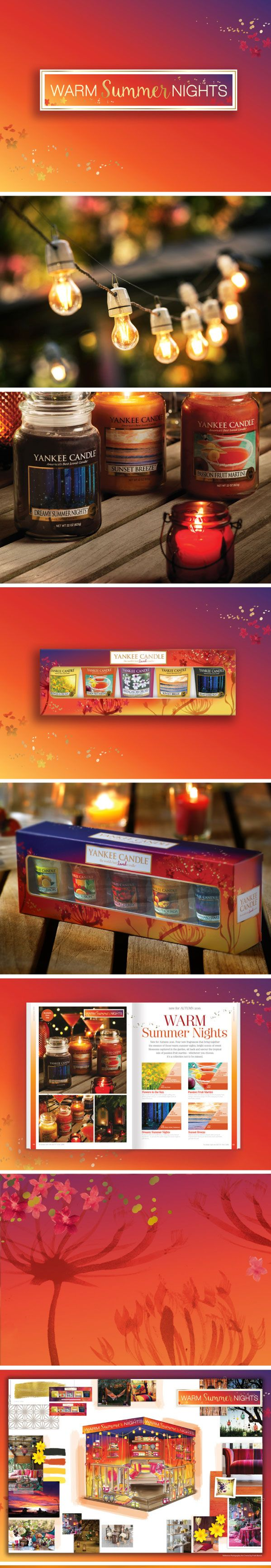 Yankee Candle Warm Summer Nights: Thematic & Activation: Campaign Identity   Gift Packaging  POS   Trade Show Stand   Literature