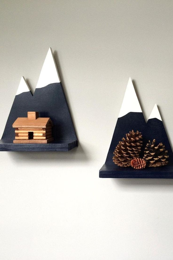 Mountain inspired wall shelves for kids rooms | Design and decor for kids | Tips and ideas | Inspiration for great kids furniture and decor