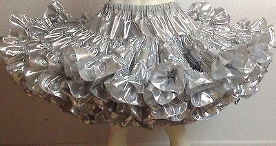 Silver Lame 100 Yard Petticoat By Evas Petticoats | Clothing, Shoes & Accessories, Dancewear, Adult Dancewear | eBay!