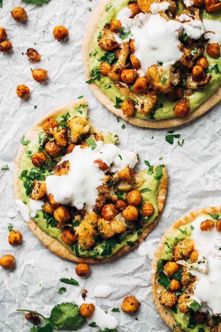 Roasted Veggie Pita with Avocado Dip #veggie #pita #avocado