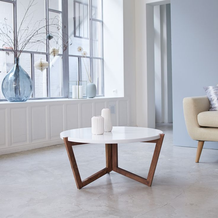Grey Solid Wood Coffee Table: Niels Sheesham White And Grey Coffee Table 80