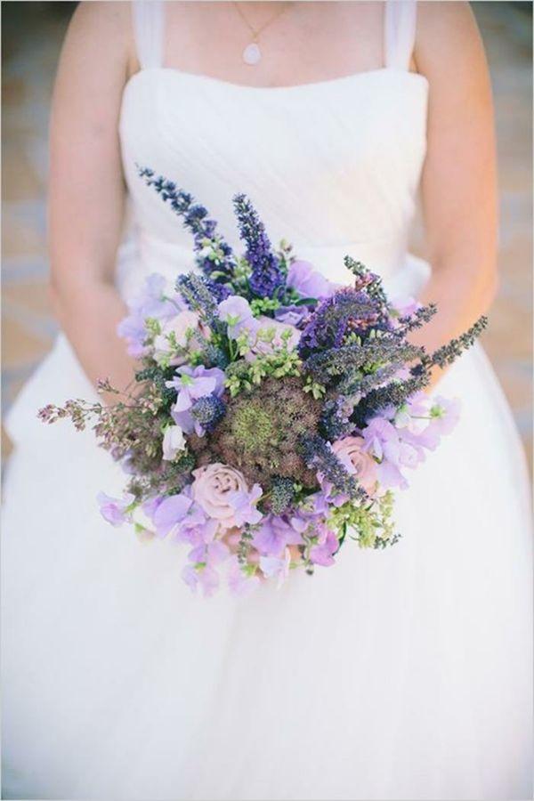 purple themed bridal shower%0A Hochzeitsblumen lila nuancen Coole Brautstr  u  e Bilder