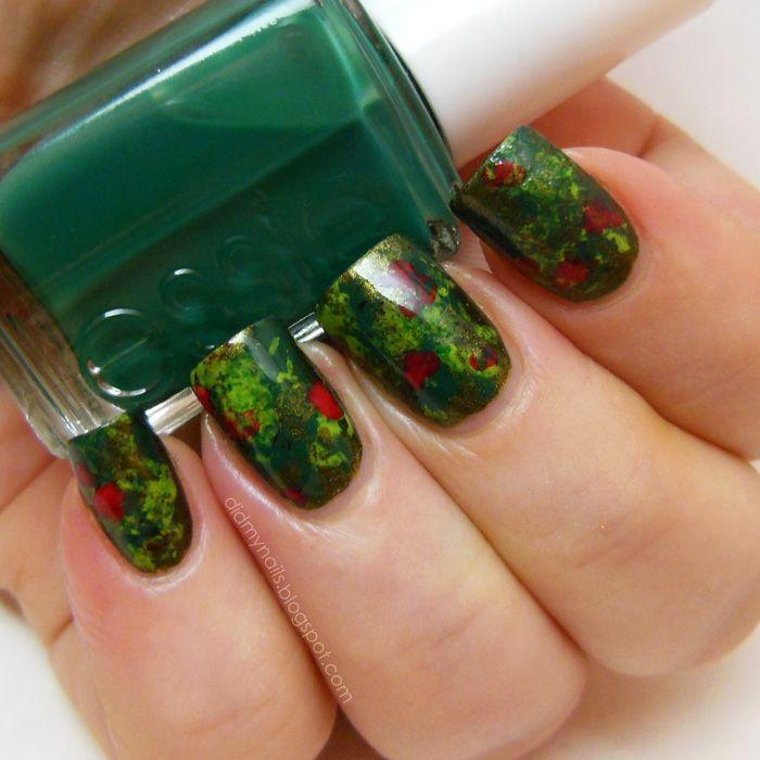 Bloodstone Nails | Nails | Pinterest | China glaze, Saran wrap nails ...
